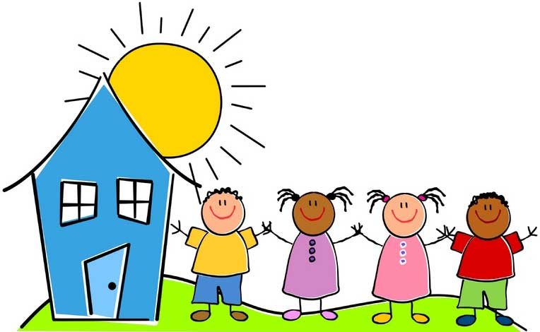 Building clipart day care center Clipart Clipart vector Colorful care