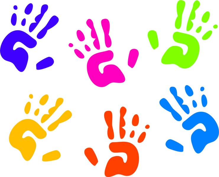 Handprint clipart childcare Bellingham Life daycare YMCA Bellingham