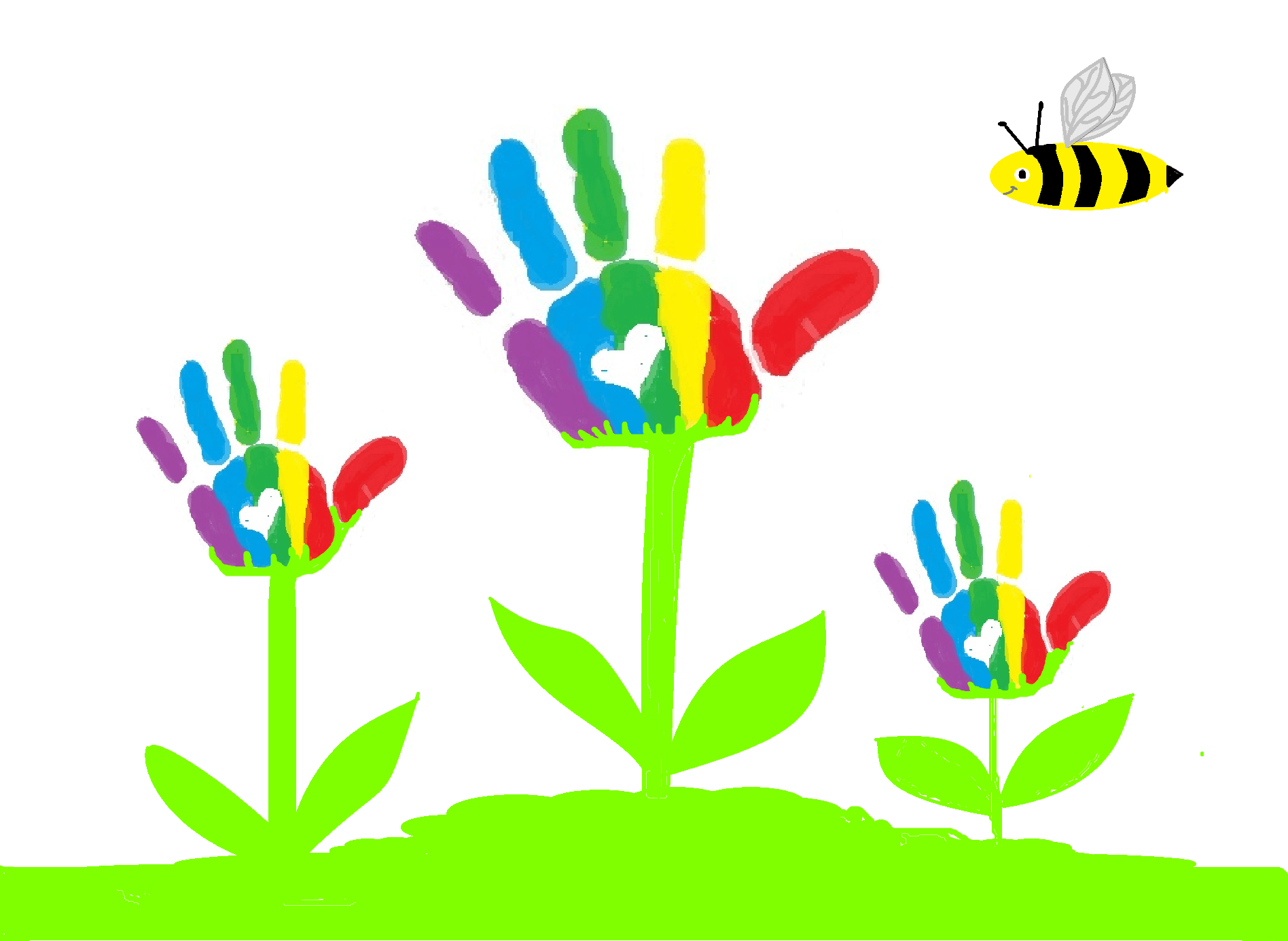 Handprint clipart childcare Learning Early Childcare Early Childcare