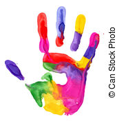 Handprint clipart colored Clip Handprint hand 348 print