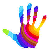 Handprint clipart colored Stock vibrant GoGraph colors Colorful
