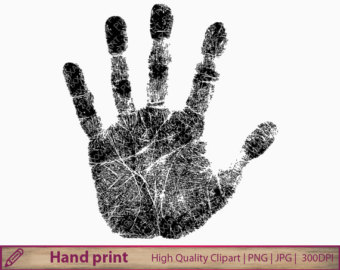 Handprint clipart cross Fingerprint Hand art Handprint art