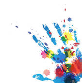 Handprint clipart cross Ink Vector Royalty Art with