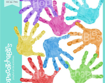 Handprint clipart cross Clipart Handprints clipart Kindergarten Handprints