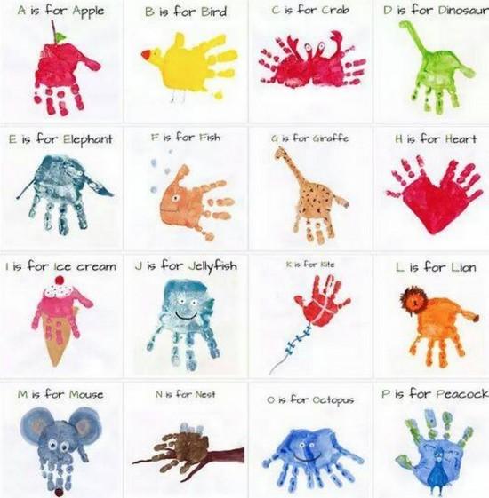 Handprint clipart cute Art Handprint Handprint and Footprint