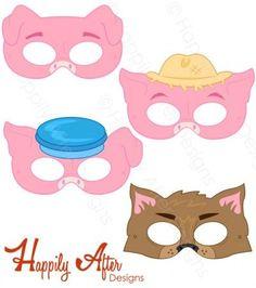 Handprint clipart eyfs Printable Masks Handprint Pigs Little
