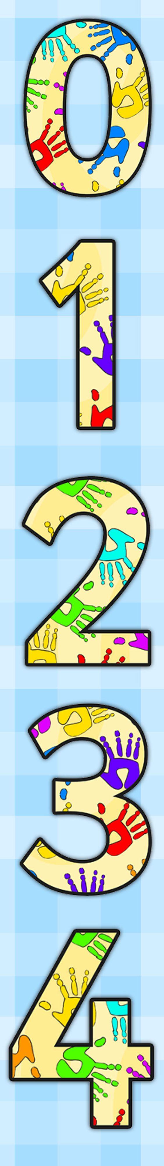 Handprint clipart eyfs Of A4 Handprint Display The