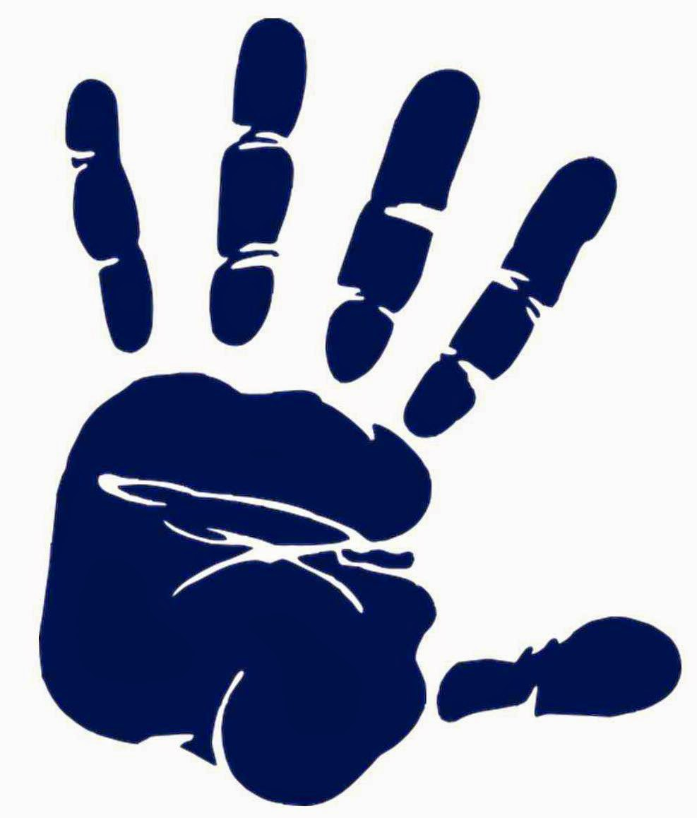 Handprint clipart five person Give Me Five Family Five!