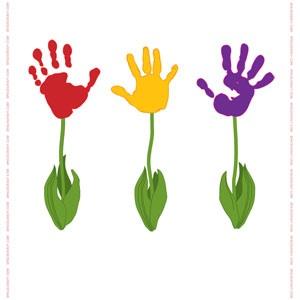 Handprint clipart flower A The not a Gan!