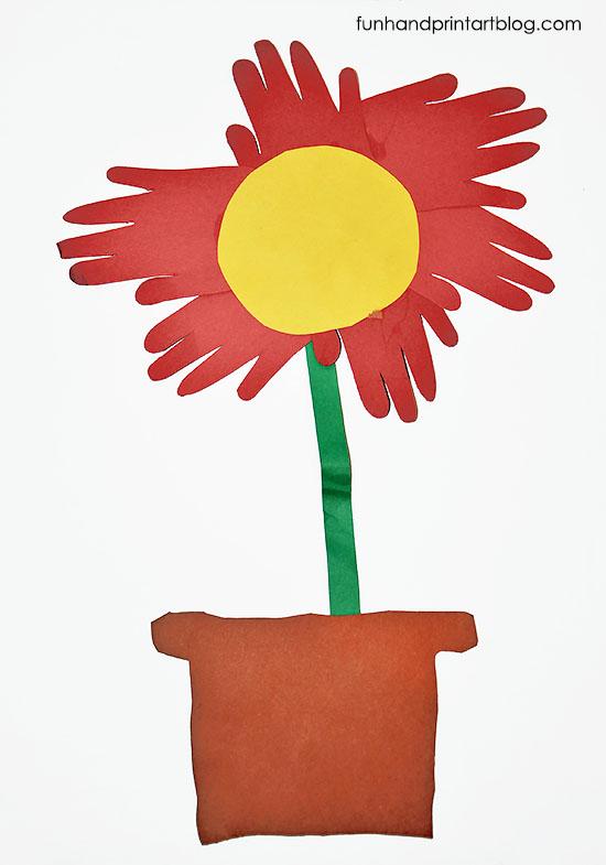 Handprint clipart flower Craft Flower Hands From Hands