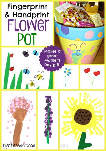 Handprint clipart flower A Fingerprint Makes design Painted