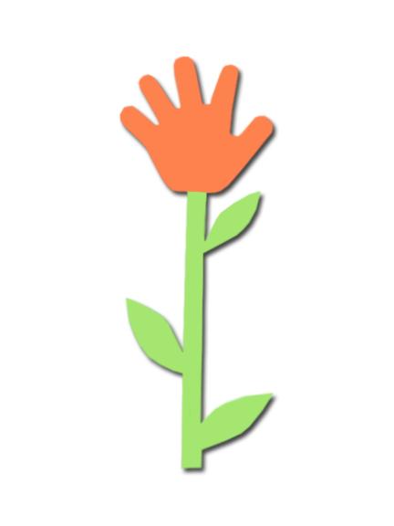 Handprint clipart flower TSLAC Handprint Chapter Preschool flower