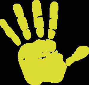 Handprint clipart gold Art Print Gold Hand Gold