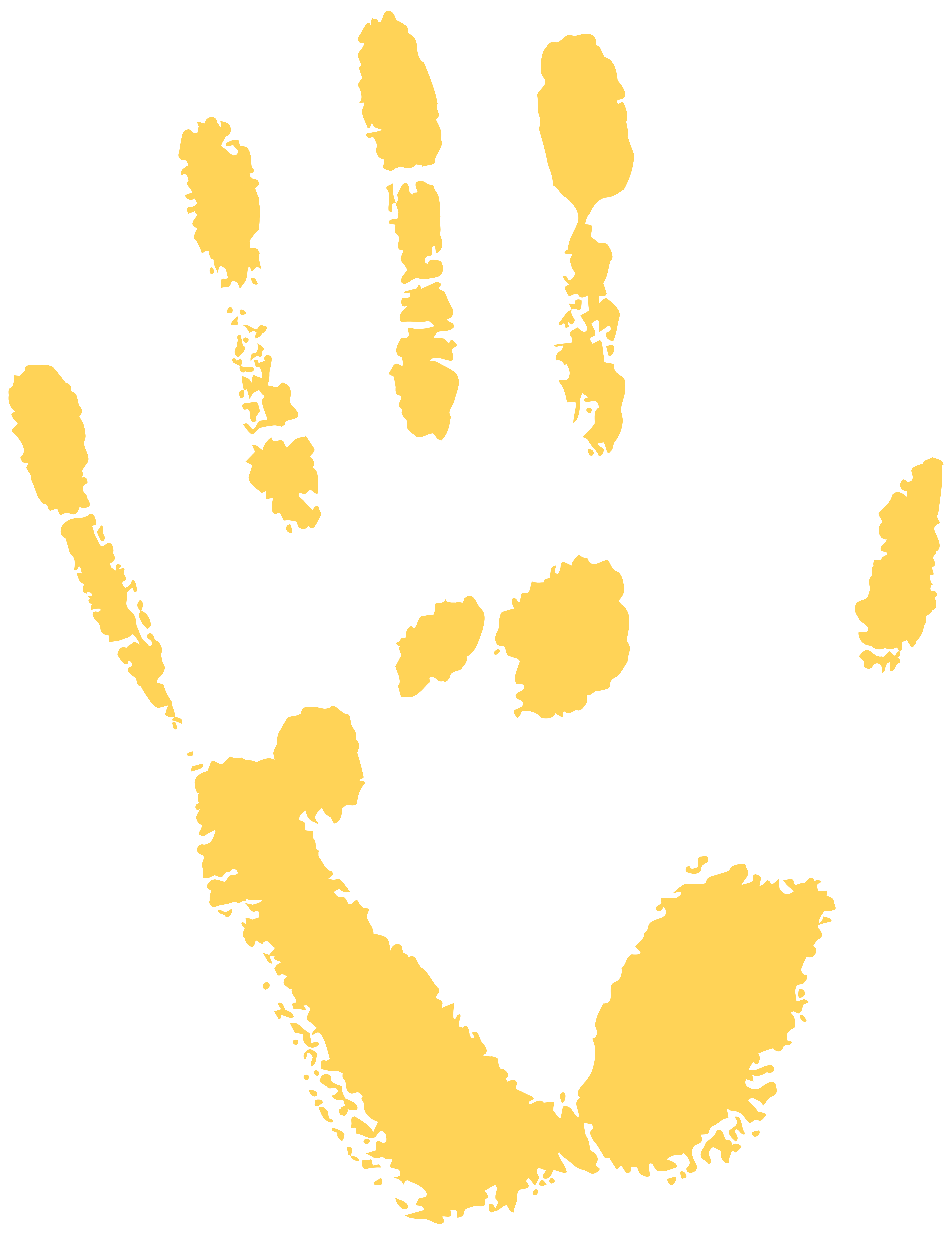 Handprint clipart gold PNG size Free Clip