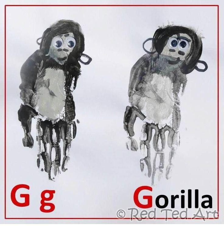 Handprint clipart gorilla Gorilla 113 for Handprints/Footprints Alphabet