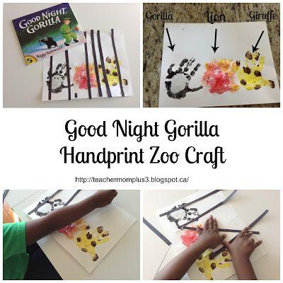 Handprint clipart gorilla Craft 25+ Gorilla on School