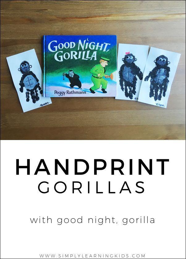 Handprint clipart gorilla Gorilla 414 Night Pinterest and
