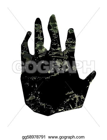 Handprint clipart gorilla Paw in art hand print