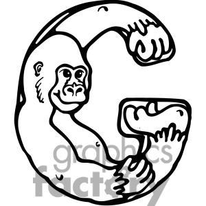 Handprint clipart gorilla Gorilla school G Letter G