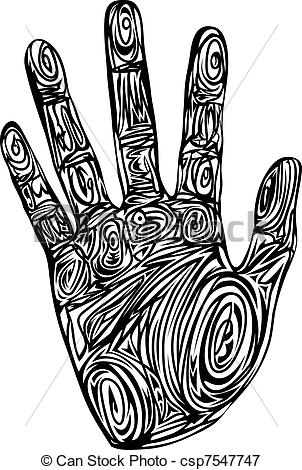Handprint clipart gray Print Abstract 96 hand print