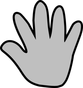 Handprint clipart gray Handprint Art clip at Gray