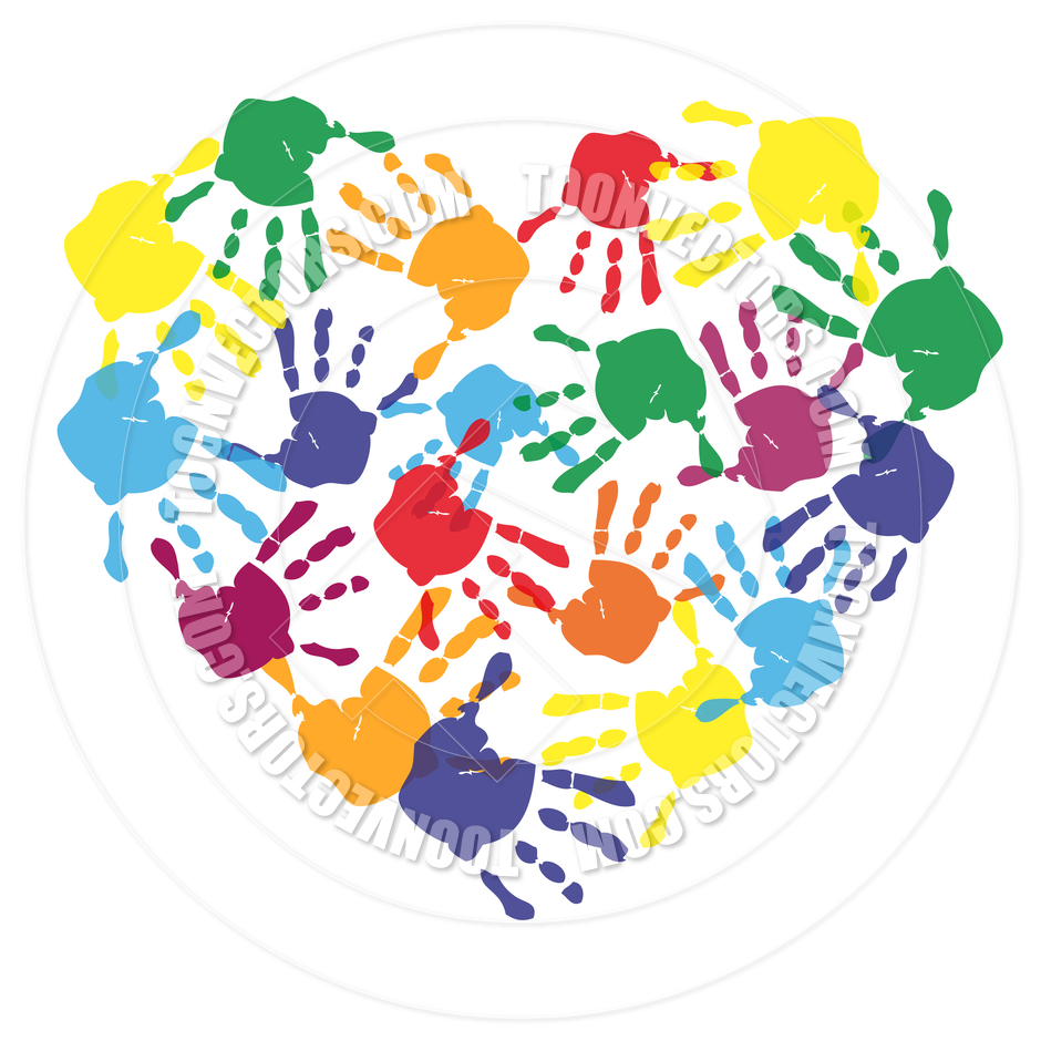 Handprint clipart hand impression (RF)  image Collection clipart
