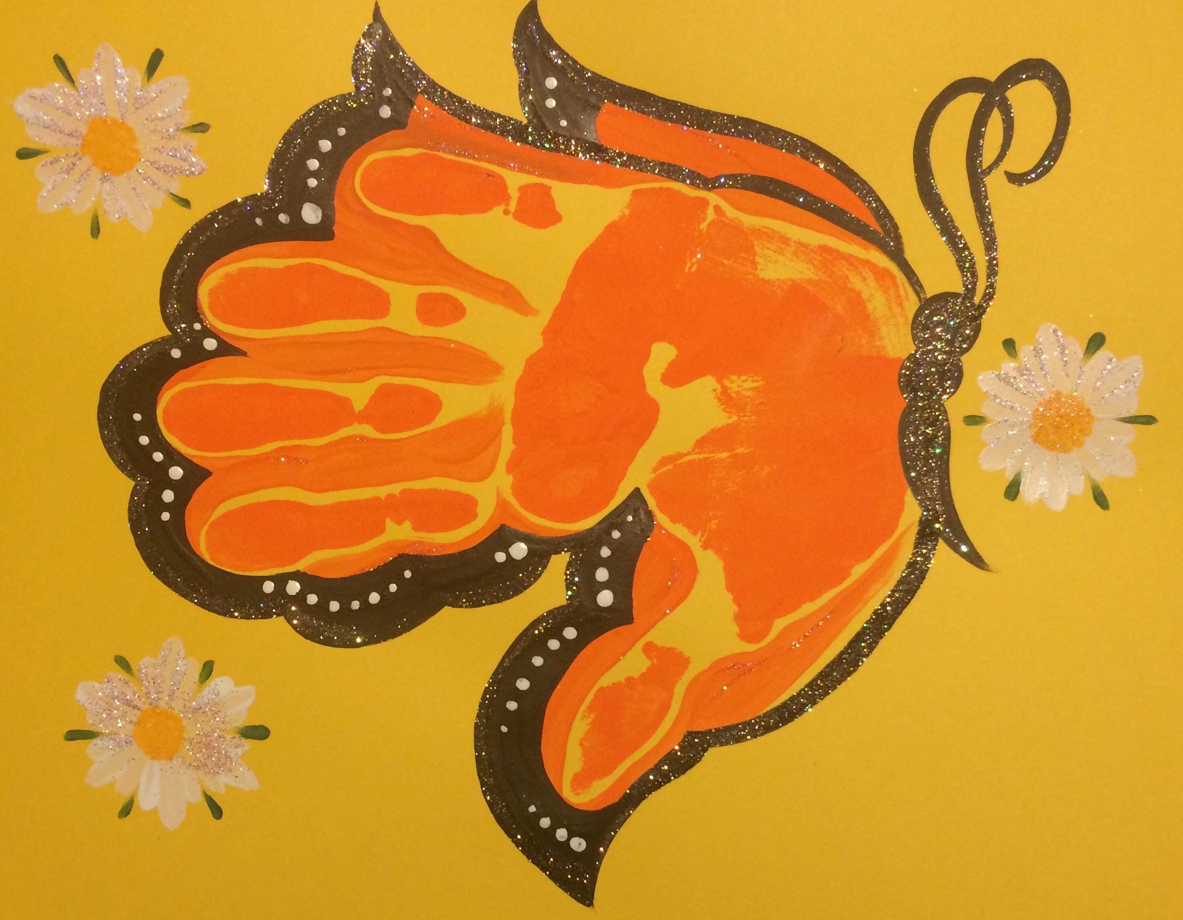 Handprint clipart hand impression (Butterfly) on Print Sakes art