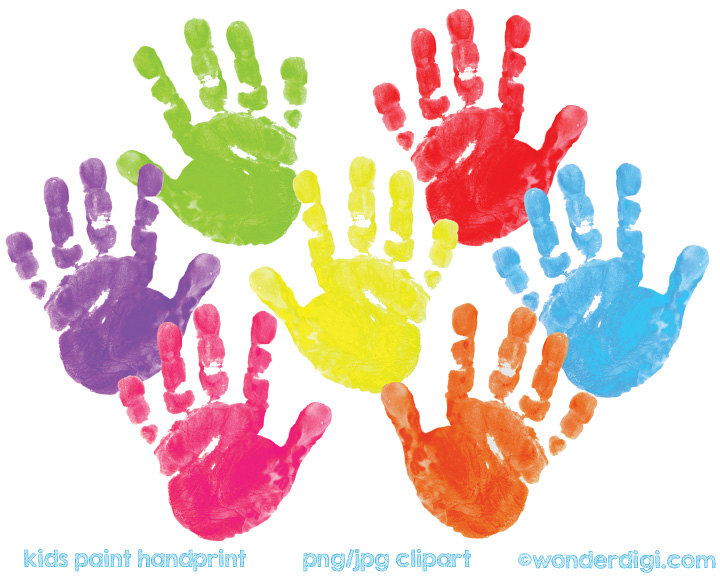 Handprint clipart hand painting For Art REAL Paint painted