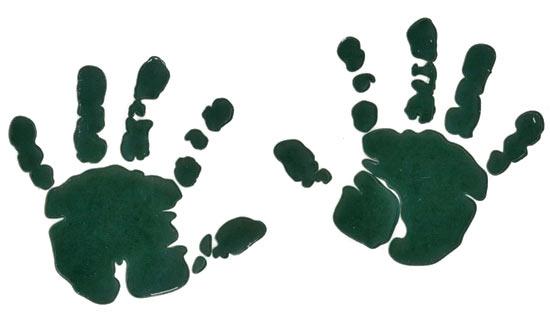 Coture clipart multi Handprint T clip Outline art