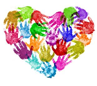 Handprint clipart handprint heart Heart handprint Handprint Child clipart