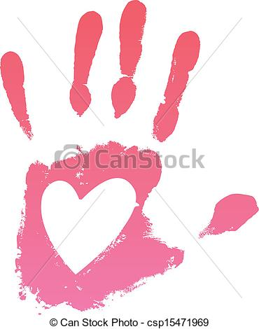 Handprint clipart handprint heart Clipart Vector heart Clipart Handprint