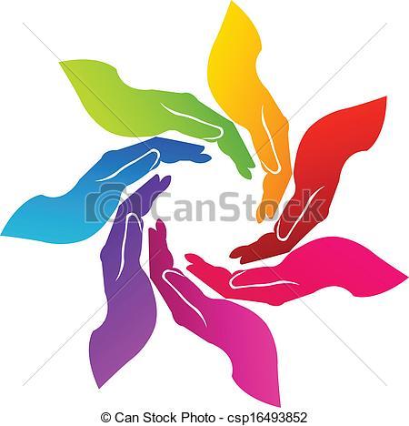Handprint clipart hands united Logo Hands voluntary Hands Clipart