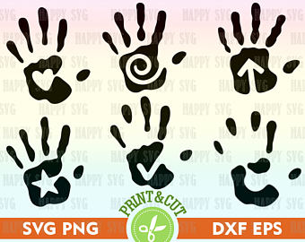 Handprint clipart hands united SVG Hand Print Print svg