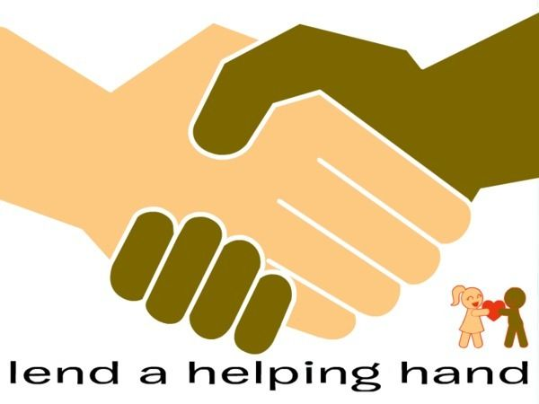 Handprint clipart helpful hand Black Helping clipart Collection hands
