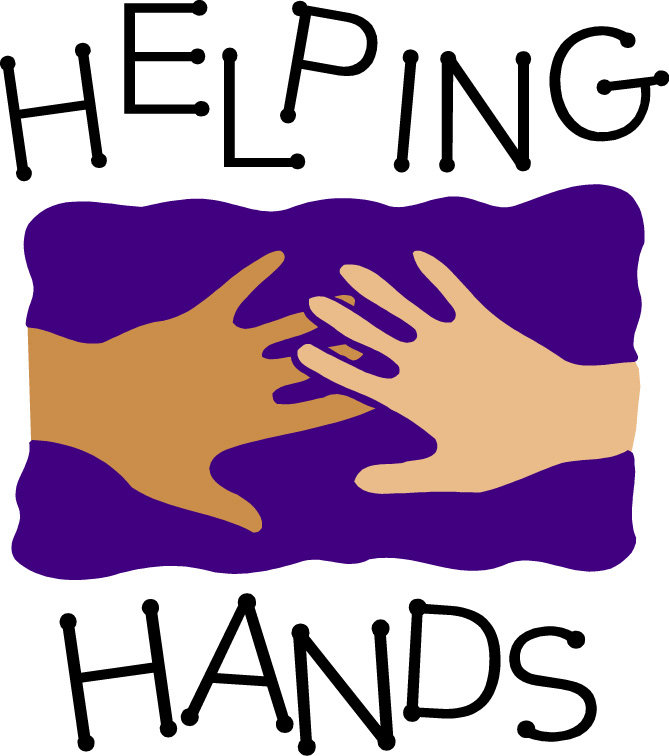 Handprint clipart helpful hand Helping Helping and Art Cliparts
