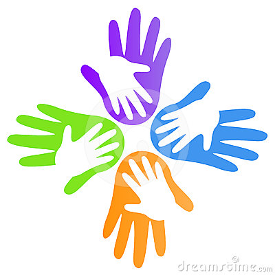 Clipart Helping hands Collection Stock