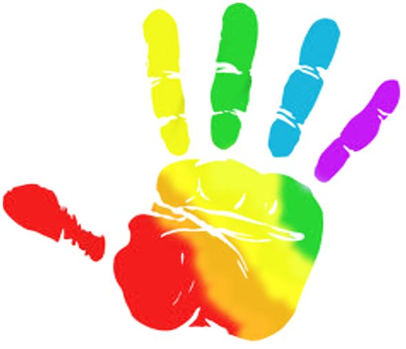 Handprint clipart helping hand Hands Rainbow hands  Collection