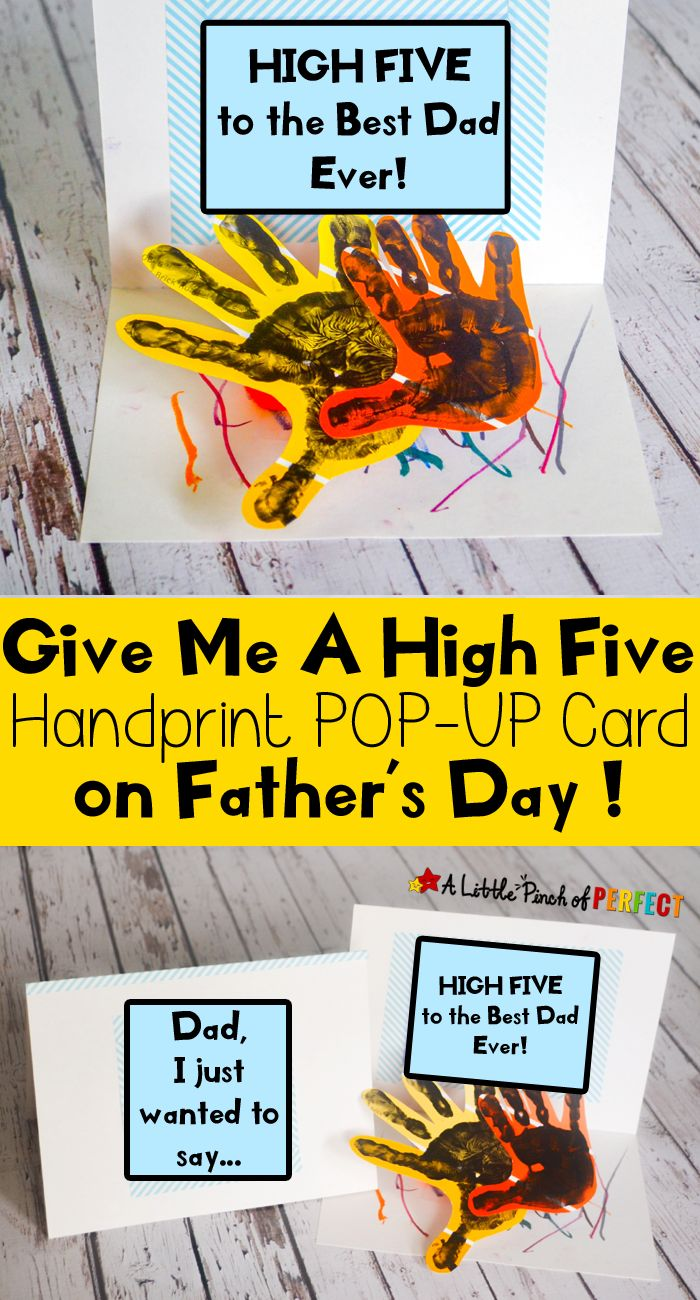 Handprint clipart hand impression Five card and day Card: