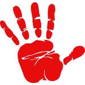 Handprint clipart high five #1