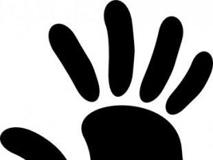 Handprint clipart left Download free Of clip Hand