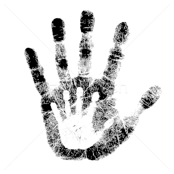 Handprint clipart left Images Stock © hand and