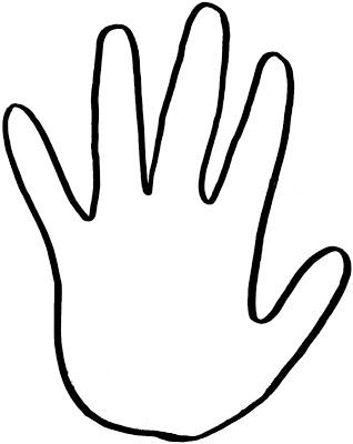 Handprint clipart left Savoronmorehead Outline Clipart Any Outline