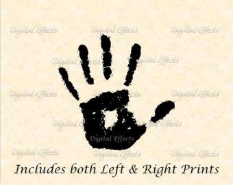 Handprint clipart left hand Vectorized Clipart Clipart Includes Image
