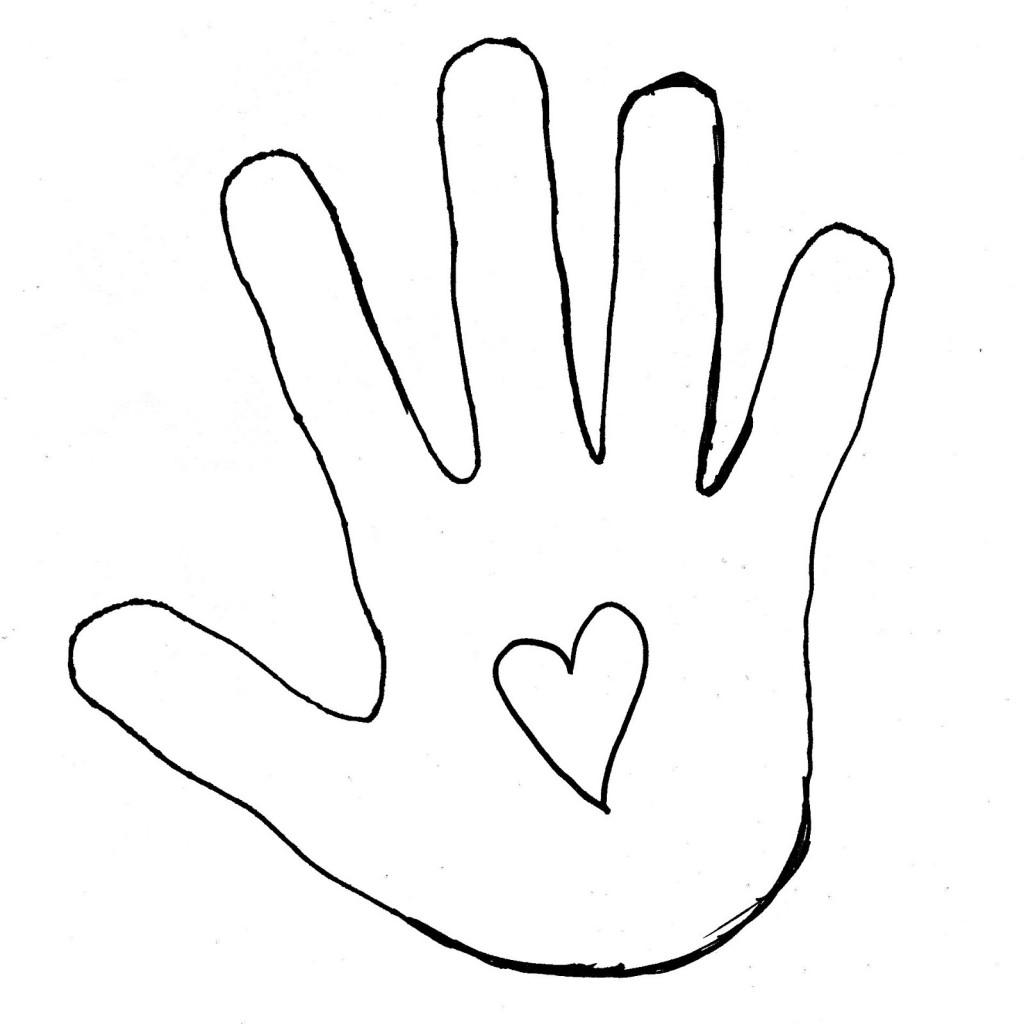 Handprint clipart left hand Clipart Best Outline Hand Free