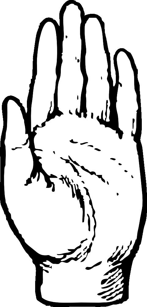 Handprint clipart left hand Print Free Art Download Hand