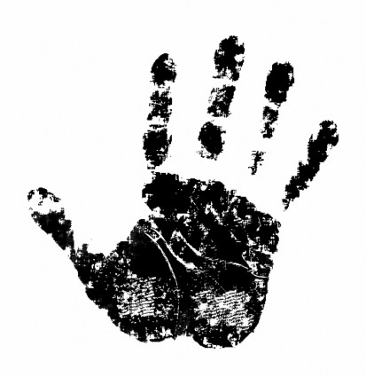Handprint clipart left hand Free about vector (53) for