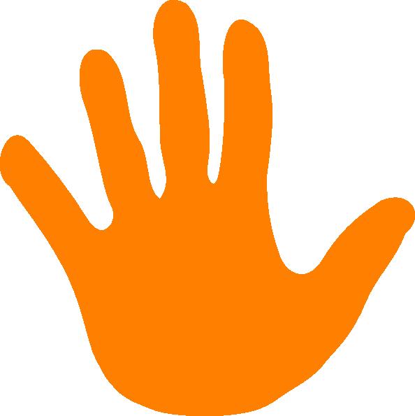 Handprint clipart left hand Left Art image at Orange