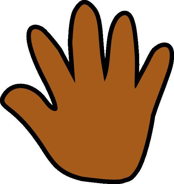 Handprint clipart left hand Clker  vector Print clip