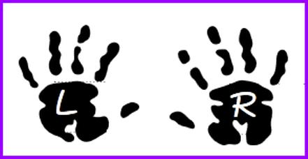 Handprint clipart left right Hand right Clip Art Left