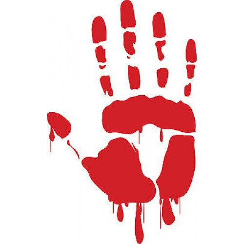 Handprint clipart left right And Decal Handprint Zombie Walking